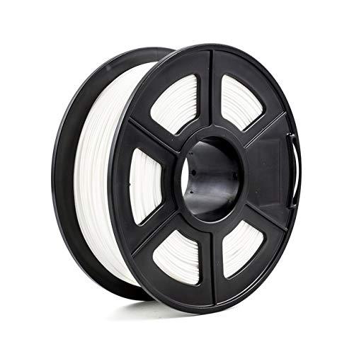 L.Z.H 3D Printer Filament 1.75mm 1kg/2.2lbs PLA PETG TPU Nylon Carbon Fiber Conductive ABS PC POM ASA Wood HIPS PVA Plastic Filament 3d Printer Accessories (Color : Soft PLA White, Size : Free)