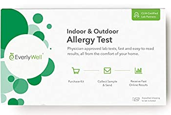 Everlywell Indoor & Outdoor Allergy Test - at Home - CLIA-Certified Adult Test - Personalized Accurate Blood Analysis  40 Common Allergens  - Not Available in NY NJ RI