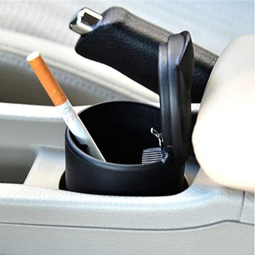 Auto-Aschenbecher, tragbar, rauchfrei, Zylinderaschenbecher, Zigarettenhalter, selbstlöschender Aschenbecher mit Deckel