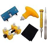 Timagebreze Kit D'Outils D'Ouverture de Bo?Tier de Montre, Outils de Type Levier D'Ouvre-Bo?Tier et Outil de Support de Montre, Outil de Retrait de Couverture ArrièRe RéGlable