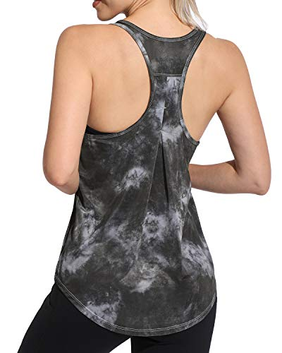 Promover Yoga Débardeurs Femmes Sexy Pilates Sport Gilet Lâche Gym Gilet Extensible à Séchage Rapide Anti-humidité Respirant Fitness Running Workout Chemises sans Manches