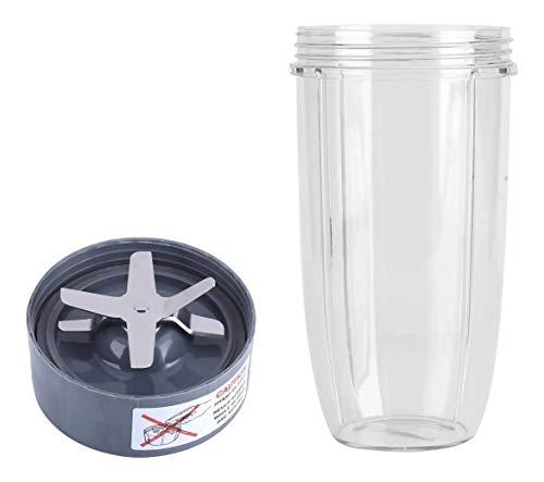 Piezas de repuesto para licuadora, vaso de 32 onzas con cuchilla extractora de repuesto, compatible con batidoras Nutribullet 600 W 900 W