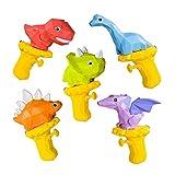 5 juguetes de pistola de agua, juguetes de rociado de agua de dinosaurios 3D, juguetes de trofeos de agua interior y al aire libre, juguetes de playa de piscina de verano