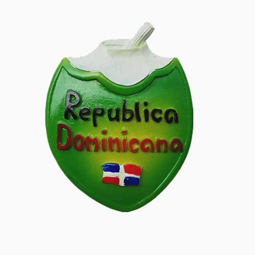 Imán de nevera 3D República Dominicana para regalo de recuerdo, colección de pegatinas magnéticas
