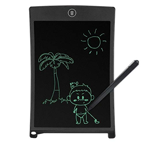 Tableta gráfica de Arte Pluma de Dibujo Tableta Digital inalámbrica Pluma Escritura Stylus Pen Escritura a Mano Pluma Herramientas de Escritura - Negro - 8.5/12 Pulgadas
