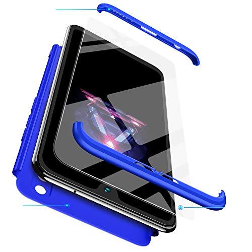 BESTCASESKIN Funda Compatible con Xiaomi Mi MAX 2, Carcasa Móvil de Protección de 360° 3 en 1 Desmontable con HD Protector de Pantalla Caso Case Cover [Anti Huellas Dactilares] Azul