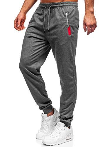 BOLF Hombre Pantalón Deportivo Pantalones De Chándal Jogger Impresión Pantalones Holgados de...