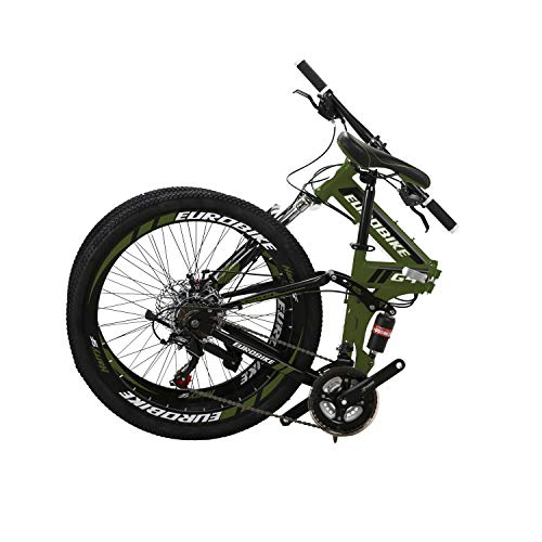 LZBIKE Bicycle G4 26-inch Bike Mountain Bike 26' 21-Speed Shift Left 3 Right 7 Cycle Folding Mountain Bike Frame Shock Absorption Mountain Bike
