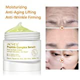 Peptide Face and Neck Moisturizer Anti-Aging Cream, Collagen Multi Peptide Day Cream and Night Cream to Smooth Wrinkles,Non-greasy absorb quickly Facial Cream Gel 1 oz