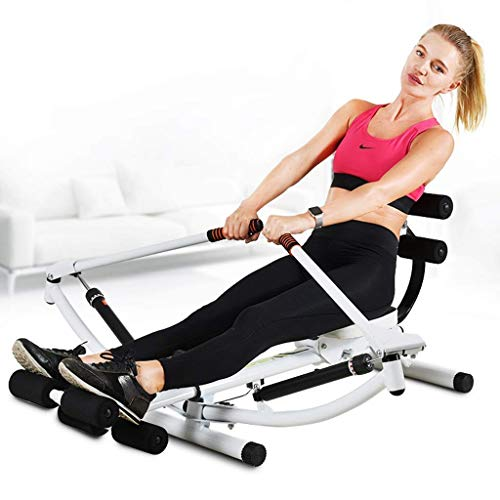 XBSLJ Foldable Rowing Machines Adjustable Rowing Machine, Hydraulic Rowing Device Home Fitness Exercise Equipment