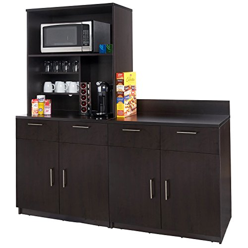 Coffee Kitchen Lunch Break Room Cabinets Model 4342 BREAKTIME 3 Piece Group Color Espresso - Factory Assembled (NOT RTA) Furniture Items ONLY.