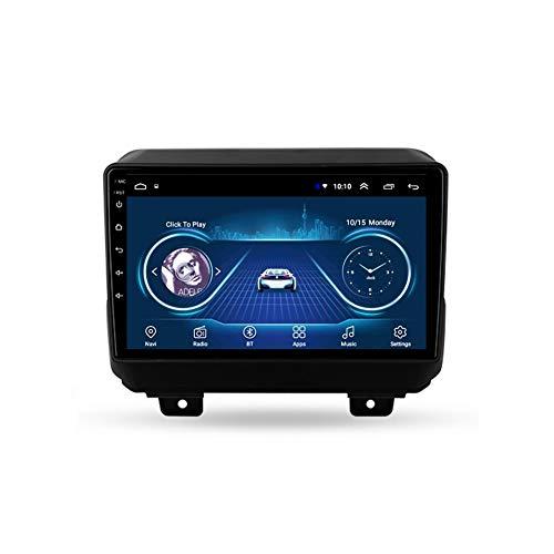 Foof Autoradio Coche Bluetooth 2 DIN Android Radio De Coche 9'' Pantalla Táctil WiFi Plug and Play Completo RCA SWC Soporte Carautoplay/GPS/Dab+/OBDII para Jeep Wrangler 4 JL,Quad Core,WiFi 1G+16G
