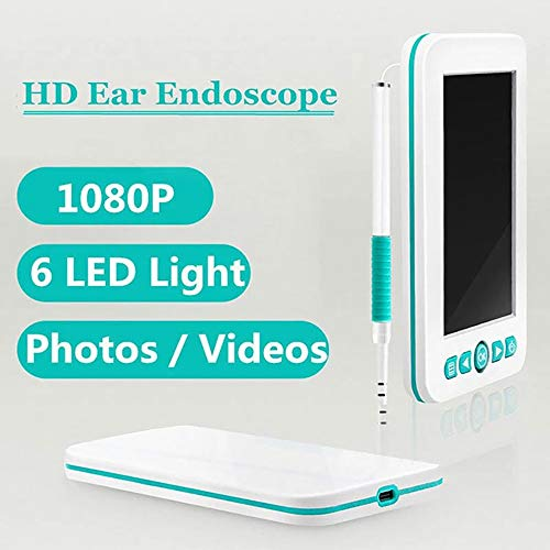 PANXIAO Otoscope 1080P Ear Scope, Camera HD Earwax Endoscope USB Inspect Cam Ear Care Cleaner Tool with 4.3 inch Screen for Phone (Color : A, Size : 1.5m)