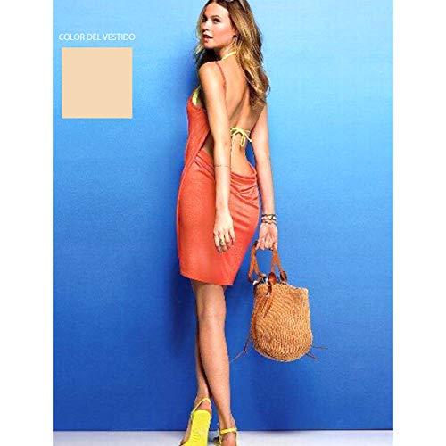 Cisne 2013, S.L. Vestido Pareo de Playa para Mujer. Vestido converitible en Toalla o Manta para la Playa. Pareo Toalla para Mujer Talla Unica Color Crema.