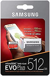 Samsung 512 GB Memory Card For Mobile Phones - Micro SD High Capacity Cards - MB-MP512D/CN