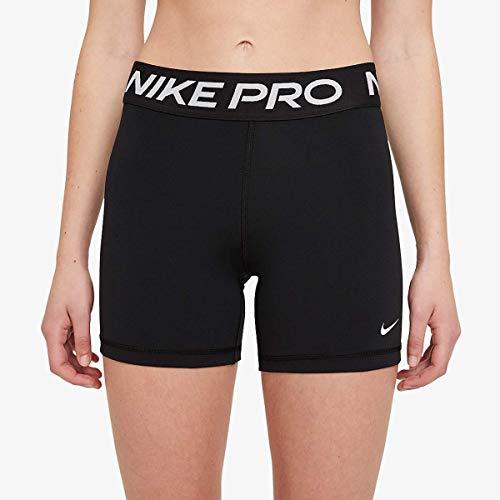 NIKE W NP 365 Short 5IN Pantalones Cortos, Black/(White), L para Mujer