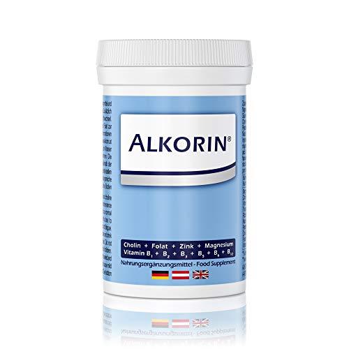 ALKORIN® dem nächsten Tag zuliebe - Unterstützt die Leberfunktion mit Cholin - 100g Dose für 25 Anwendungen - Basenpulver mit Magnesium, Zink, Folsäure, Vitamin B1 + B2 + B3 + B5 + B6 + B12