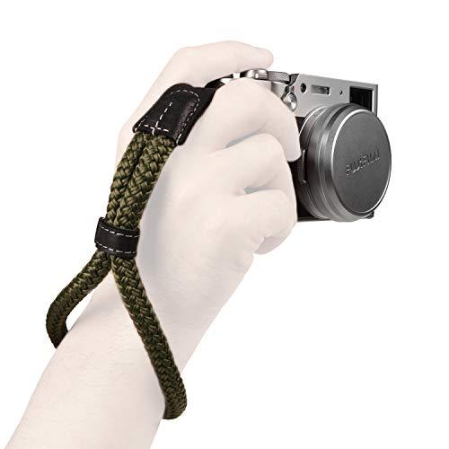 MegaGear–pequeño de algodón cámara Correa de Mano muñeca–Verde