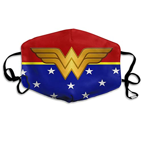 Wonder-Woman Face Madk Washable Reusable Mouth C_over Adjustable Ear Loops Valentines Day Gift for Men Women 02