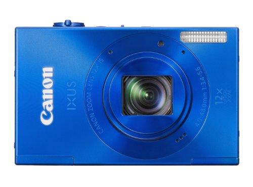 Canon IXUS 500 HS Digitalkamera (10 MP, 12-fach opt. Zoom, 7,5cm (3 Zoll) Display, Full HD, bildstabilisiert) blau