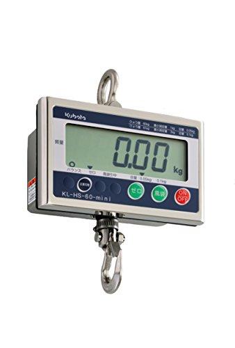 クボタ 防水デジタル吊りはかり 60kg 検定付 KL-HS-60-mini-K