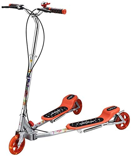 Big Save! HNSYDS Kick Scooter Swing Car Pedal His Feet After an Adjustable Height and Double Brake f...