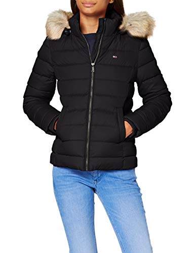 Tommy Jeans Damen Tjw Basic Hooded Down Jacket Jacke, Schwarz (Black), L