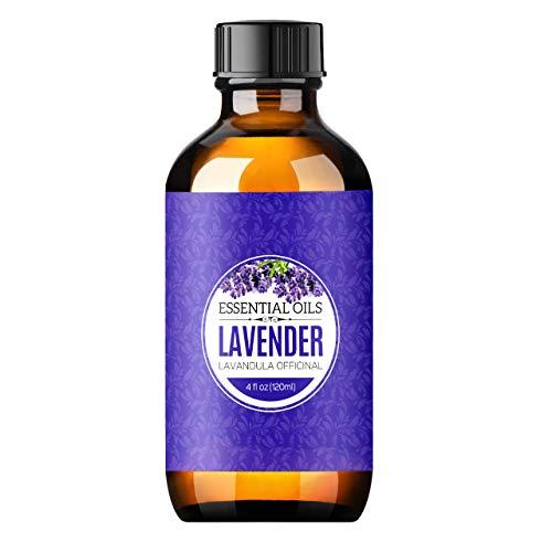Homasy 120ml Aceite Esencial de Lavanda Puro, Aceite Perfumado sin Diluir, Orgánico para Difusor, Relax, Alivio, Sueño,...