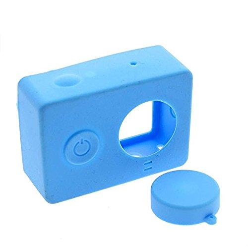 kingken tragbar Silikon Fall mit Objektivschutz für Xiaomi Yi Action Kamera (blau)
