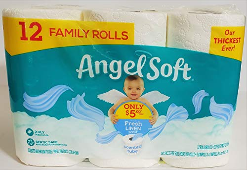 """Authentic""""A S"""" Product - Bath Tissue, 12 Family Rolls, Fresh Linen Toilet Paper Shipped & Sold by: Edible Deliveries"""