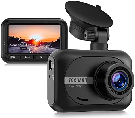 "2021 Upgrade | TOGUARD Dual Dash Cam FHD 1080P+1080P Front Inside Cabin Car Camera Driving Recorder for Car Taxi w/IR Night Vision Interior Camera Parking Mode G-Sensor Loop Recording 1.5"" LCD Display"