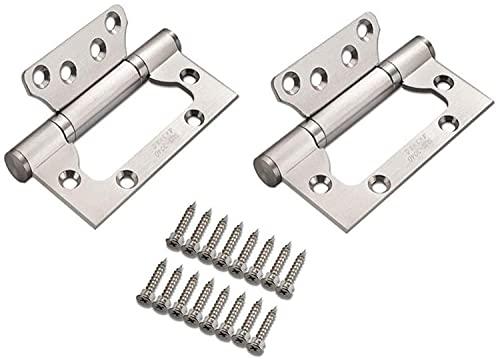 2 Piezas Bisagras de puerta, Bisagras de Acero Inoxidable Bisagras de Repuesto Cojinete de Bolas Mute zmhy