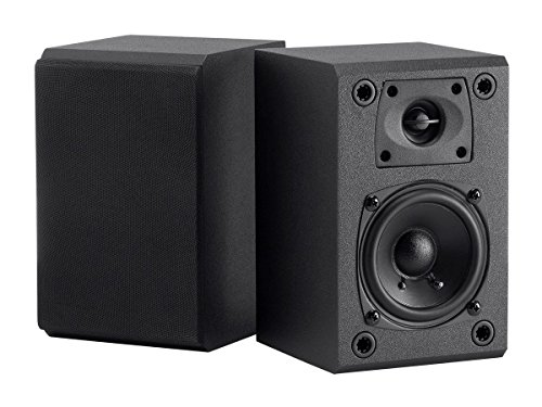 Monoprice Surround Bookshelf Home Speaker, Set of 2, Black (114366)