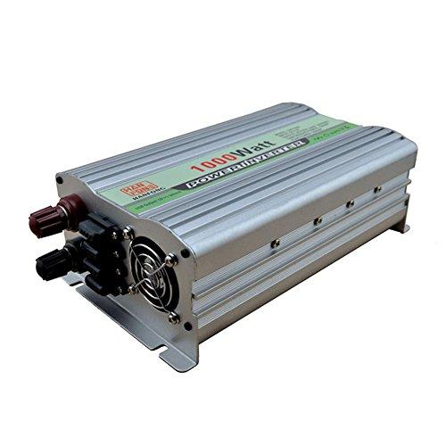 Convertisseur BQ Power Inverter 1000 W DC 12V à AC 220V Transformateur tension de voiture cigarette 2 USB Chargeur de voiture (Argent)
