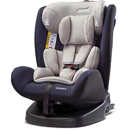 Caretero Mokki Isofix Drehbarer Auto Kindersitz 0-36 kg bis 150 cm Gruppe 0, 1, 2, 3 Navy
