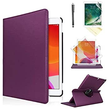iPad Air 1st Generation case Compatible Models A1474 A1475A1476 MD785LL/A MD876LL/A 360 Rotating Stand with Wake Up/Sleep Function  Purple