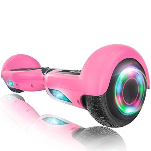 XPRIT Hoverboard w/Bluetooth Speaker, UL2272 Certified (Pink)