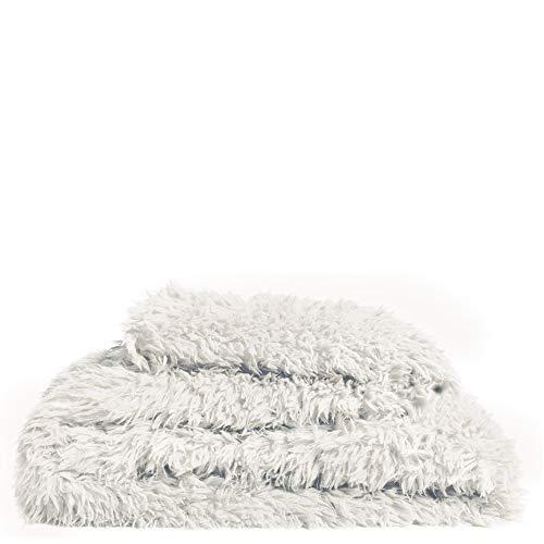 Reborn-Decke – Kunstfell Kuscheldecke – flauschig-voluminöse und langhaarige Fellimitat-Decke – 140x190 cm – 000 white – von 'zoeppritz since 1828'