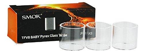 Original Smok TFV8 Baby Beast 2ml – V8 tubos de vidrio Pyrex- 3 piezas en paquete, Este producto no contiene nicotina ni tabaco
