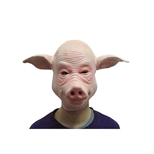 Price comparison product image Halloween Party Performance Props Halloween Supplies Animal Masks Bald Pig Mask Headgear