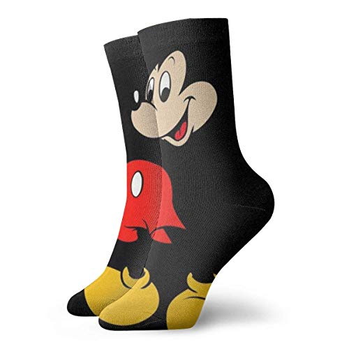 flys New Year Special Mens Crew Socks Mickey Mouse Painting Compression Socks Casual Cushion Athletic Socks
