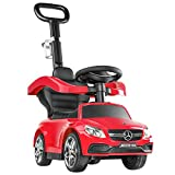 BABLE Push Cars for Toddlers- Push Car Stroller for Kids to Ride with Safety Bar Cup Holder, Ride on Toys for 1 Year Old Boys or Girls, Red