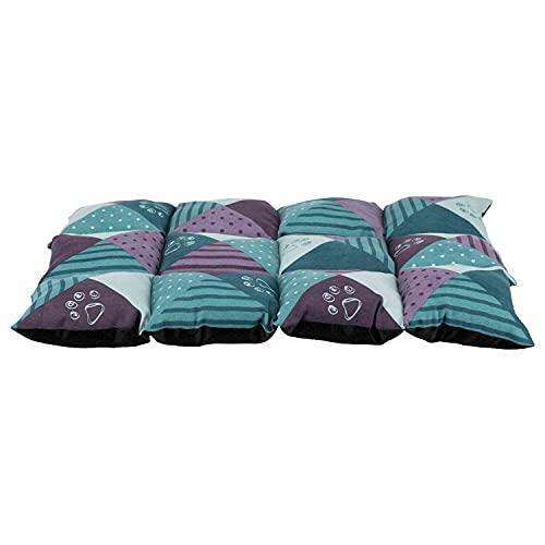Trixie 37078 Liegematte Patchwork, 70 × 50 cm, petrol/lila