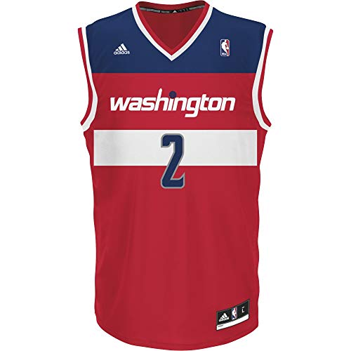 adidas INT Replica Jrsy Camiseta de Manga Corta, Hombre, Multicolor (NBA Washington Wizards 7 3W8), XXS