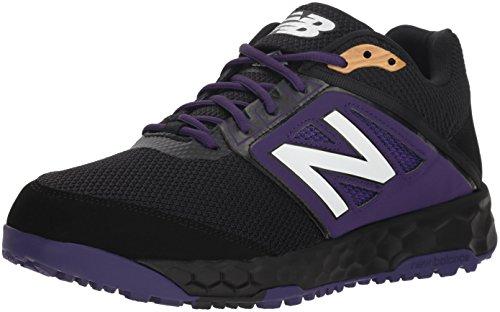 New Balance Men's 3000 V4 Turf Baseball Shoe, Black/Purple, 13 D US