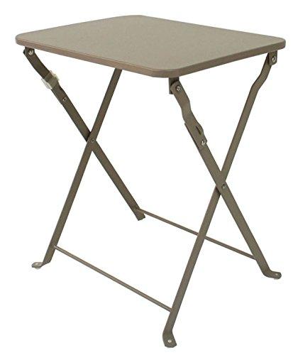 PEGANE Table d'appoint de Jardin Pliante Coloris Taupe - Dim : 40 X 35 X 45 cm