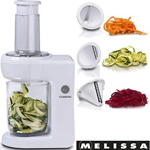 Melissa 16310184 Elektrischer Spiralschneider 3 Schneideinsätze Ideal Für Obst- Und Gemüse-Nudeln
