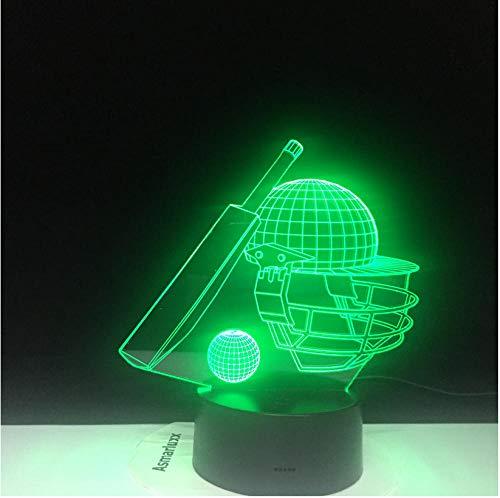 Baseball 3D Phantom Night Light LED Baseball bat Baseball Round Backpack Night Light Bedroom Decoration Gift 3D Lights for Children