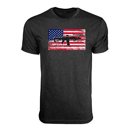 Black Rifle Coffee T Shirts (X-Large, SBR Flag Shirt - Vintage Black)