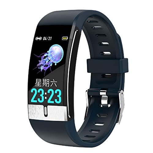 Wsaman Pantalla Táctil Pulsómetro Fitness Tracker Smartwatch Impermeable IP68 Pulsera Actividad Reloj Inteligente Mujer Hombre con Podómetro para Android/iOS, Monitor de Fitness,Azul